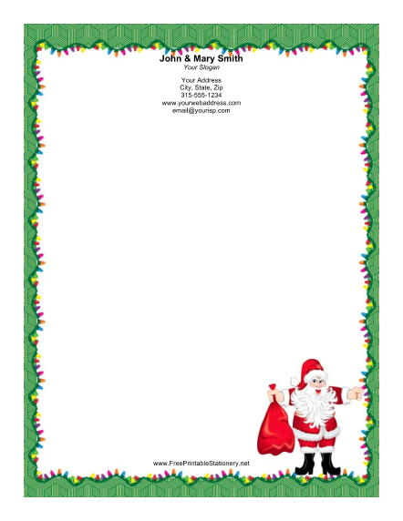Santa Border for Pinterest