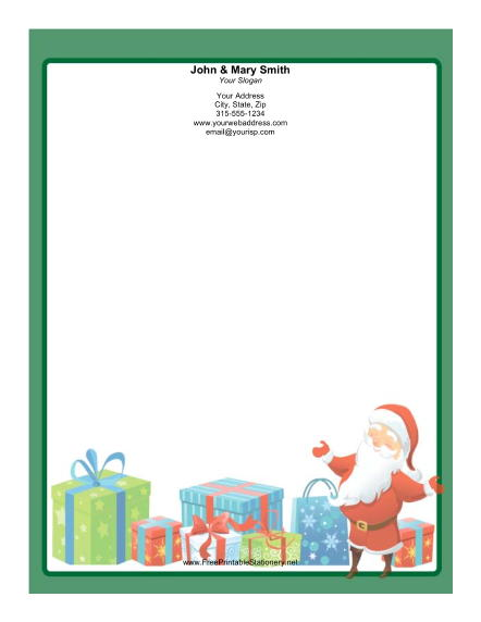 Printable From The Desk Of Santa Letters | New Calendar Template Site