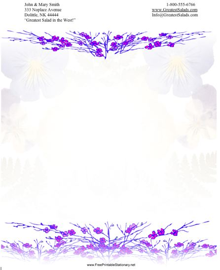 Flowers #2 stationery design