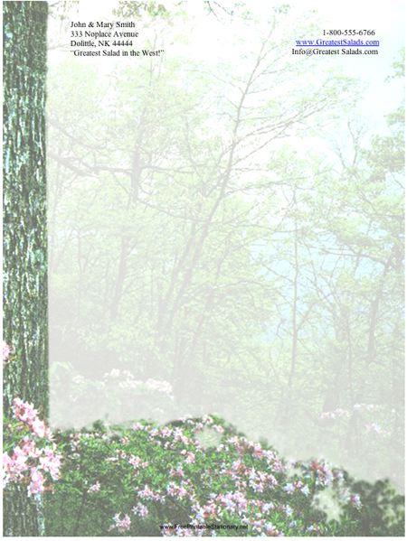 Forest stationery design