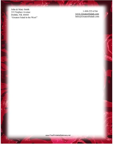 rose border stationery design red roses border this entire printable ...