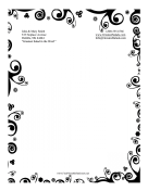 Black And White Nature Stationery