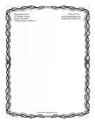 Black And White Sketch Stationery