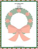 Large Wreath Red Bow