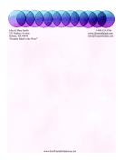 Purple Circles Abstract Stationery