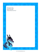 Water Dragon Stationery